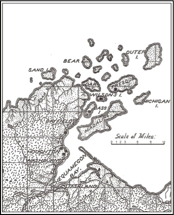 Map of Chequamegon Bay